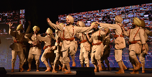 Scene from Jang-e-Saragarhi, Light & Sound Show